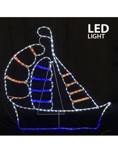 ΚΑΡΑΒΙ LED ΜΕ 11m. ΦΩΤ/ΝΑ, 106x104cm,...